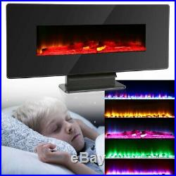 1350W Electric Fireplace Heater Stove Insert Wall Mount & Free Standing Heater