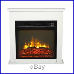 1400W 18 Inch Electric Fireplace Insert Heater Log Flame With Remote Control