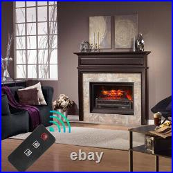 1400W 23 Electric Fireplace Logs Heater Realistic Flame Hearth Insert Wood Fire