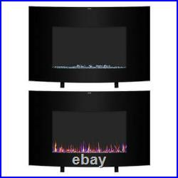 1400W 35 Electric Fireplace Heater Wall Insert Multicolor Flame Remote Home