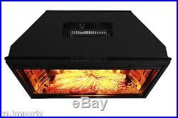 1400W 3D Flame Log Woods Insert Heater Freestanding Electric Fireplace Firebox