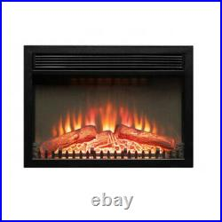 1400W Adjustable Electric Wall Insert Fireplace Heater Flame Fire with Remote