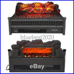 1400W Electric Fireplace Logs LED Technology Powers Fake Wood Insert Home Decor