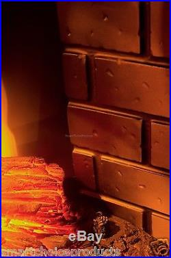 1400W Insert Free Standing 28 Electric Fireplace Firebox Heater Wood Glow Flame