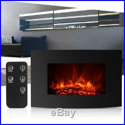 1500W 35 Electric Fireplace Insert Freestanding heater Adjustable Flame +Remote