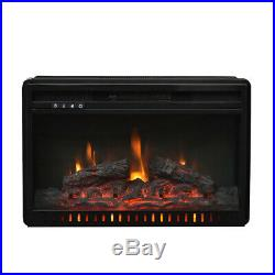 1500W-750W Fireplace Electric Embedded Insert Heater Log Flame Remote Control