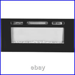 1500W Electric Dual Mount Insert 40 inch Fireplace Heater with Remote Control