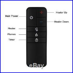 1500W Embedded 27.1 Electric Fireplace Insert Heater Log Flame Remote Control