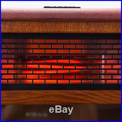 1500W Insert Electric Fireplace Quartz Infrared Heater Flame Caster with Remote