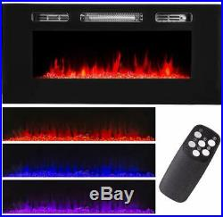 1500W Recessed Electric Insert Fireplace Wall Mounted Fire Place Heater NEW