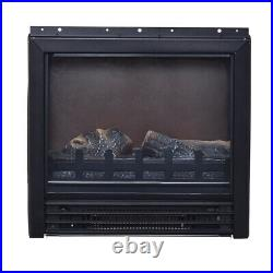 17.5Electric Fireplace Embedded Insert Heater Log Flame 1250W