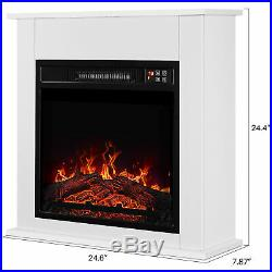 18White Electric Fireplace Mantel Portable Heater Insert Stove WithRemote Control