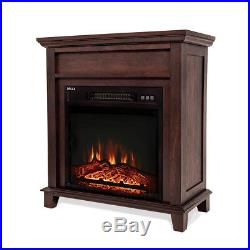 18 Insert Wood Style Mantel Electric Fireplace 3D Flame Log Heater, 1400Watts