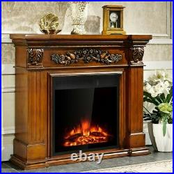 22.5 Electric Fireplace Insert Freestanding & Recessed Heater Log Flame Remote