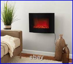 22 Wall Mounted Electric Fireplace Insert Remote Heater Adjustable Flame Indoor