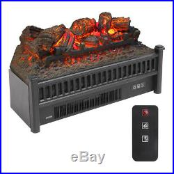 23 1400W Electric Fireplace Logs Heater Realistic Flame Hearth Insert Wood Fire