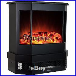 23 1500W Adjustable Tempered Glass Freestanding Logs Insert Electric Fireplace