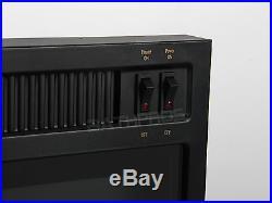 23 1500W Free Standing Insert Log Electric Fireplace Firebox Ventless 5200 BTUs