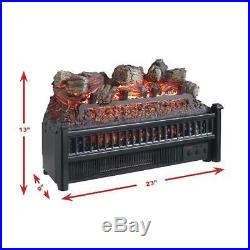 23 Electric Fireplace Log Set with Heater Blower Fire Place Insert Logs Remote