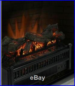 23 Electric Fireplace Log Set with Heater Blower Fire Place Insert Logs Room RV