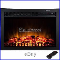 23 Free Standing Insert Heater 3D Flame Wood Log Electric Fireplace with Remote