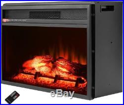 23 Inch Modern Electric Fake Faux In Fireplace Insert Space Heater Burner Kit