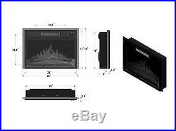 23 Tempered Glass Electric Fireplace Heat Freestanding Insert Adjustable Flames