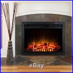 23 in Electric Fireplace Insert Space Heater Logs Convection