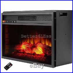 23 in. Freestanding Electric Fireplace Insert Heater with Remote Control