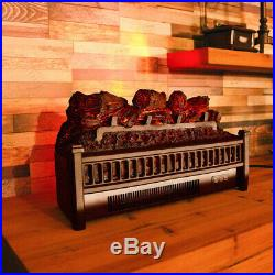 23inch Electric Log Insert Fireplace Heater with Realistic Ember Bed Room Heater
