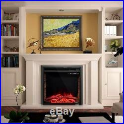 26750W-1500W Fireplace Electric Embedded Insert Heater Log Flame Remote Easy On
