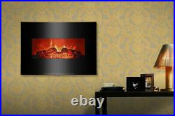 26 1400W Electric Fireplace Logs Heater Realistic Flame Hearth Insert Wood Fire