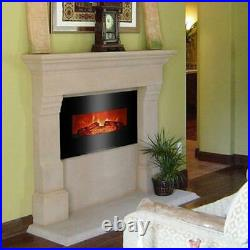 26 1400W Infrared Electric Fireplace Recessed Insert Wall Electric Heater