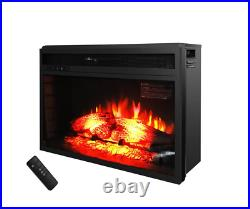 26 1500W Electric Fireplace Insert Stove Heater Wall Tile with Remote Control