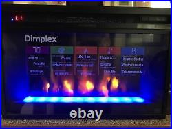 26 Dimplex EF2570G Electric Fireplace Glass Insert 4 Color Remote Crystals NWOB