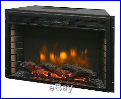 26 Electric Firebox Insert with Fan Heater and Glowing Logs for Fireplace