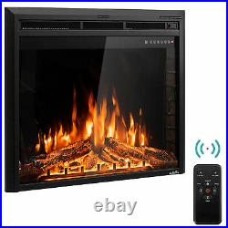 26 Electric Fireplace Embedded Insert Heater 750With1500W with Remote Control