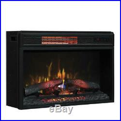 26 Electric Fireplace Insert Glass Front Realistic Log Flame Infrared Heater