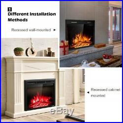 26 Electric Fireplace Insert Multi Color Heater With Remote Control
