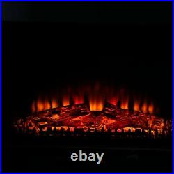 26 Embedded Fireplace Electric Insert Heater Glass View Log Flame Remote Home