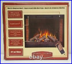26 Flat Ventless Insert Heater Electric Fireplace Firebox Hearth Trends Remote