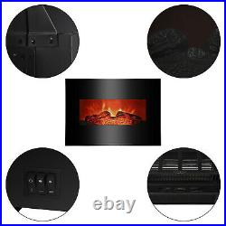 26 Wall Mount 1400W Electric Fireplace Insert Heater Adjust Log LED Flame Home