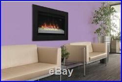 26 in Contemporary Infrared Quartz Electric Fireplace Insert Flush-Mount Trim