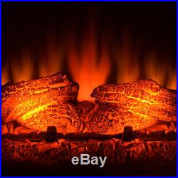 27 Freestanding Heater Electric Fireplace 22 Settings LED Tempered Glass Insert