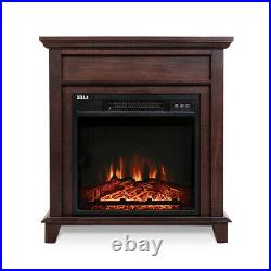 27 Insert Wood Style Mantel Electric Fireplace 3D Flame Log Heater, 1400Watts