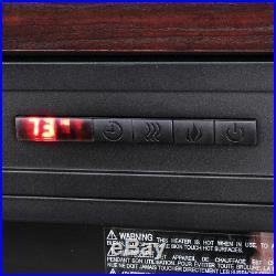 28 1400W Embedded Fireplace Electric Insert Heater Mantel, Fire Crackler Sound