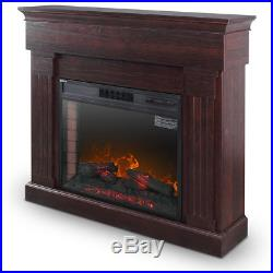 28 1400W Embedded Wood Fireplace Electric Insert Heater, Fire Crackler Sound