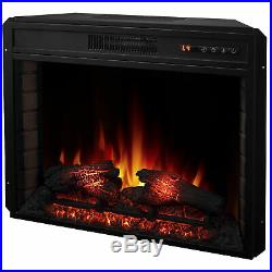 28 1400W Mounted Electric Fireplace Insert Stove Heater WithRemote Control