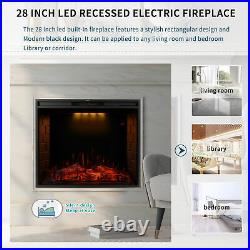 28 30 33 50 Inch Led Digital Flames Black Insert Wall Mounted Electric Fire 2021