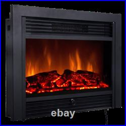 28.5 Electric Embedded Insert Fireplace Realistic Flame Thermostat Remote Timer
